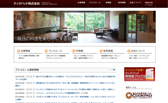 cookpad Wordpressで作られている、有名Webサイト11選