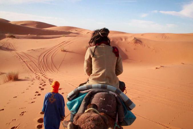 砂漠 メルズーガ モロッコ